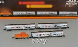 Z Scale Marklin 8141 Volkswagen Train Set Diesel Locomotive with 3 Freight Cars